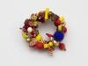 3-reihiger Armreif in den indischen Farben