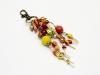 Schlüssel- oder Taschenanhänger in den indischen FArben
