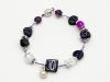 Armbanderl auf violettem Draht mit Magnetverschluss