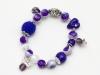 Armbanderl in violett und perlmutt